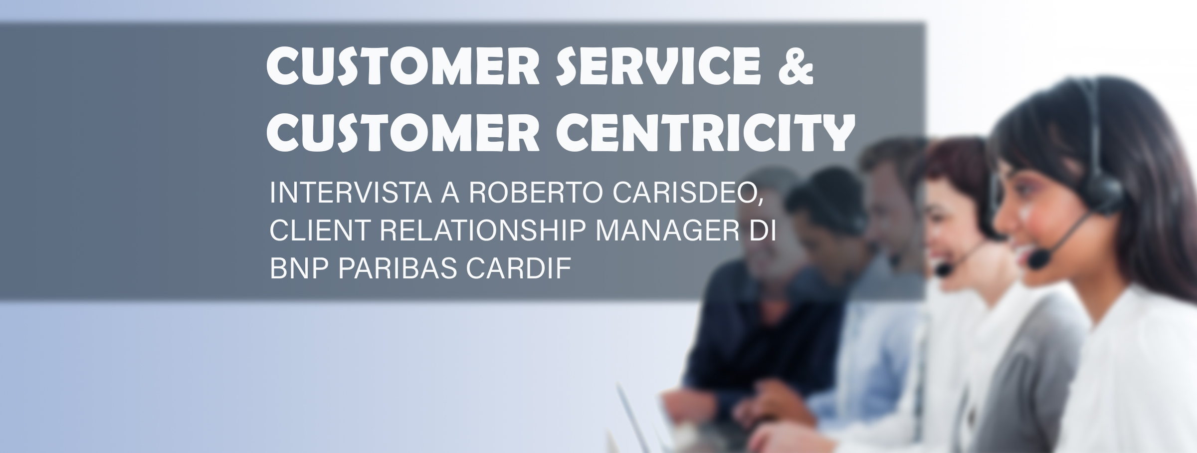 customer service & customer centricity